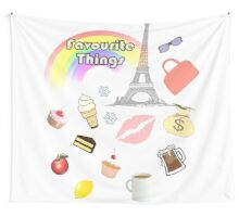 My Favourite Things Wall Tapestry