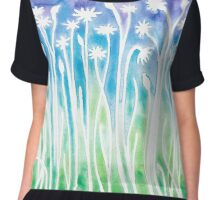 Flowers & Weeds ~ Watercolor Painting Chiffon Top