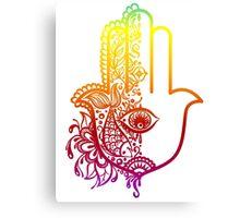 Colorful Hamsa Hand Canvas Print
