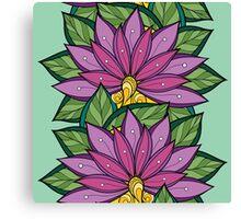Purple flower pattern Canvas Print