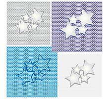 Collection of star backgrounds Photographic Print