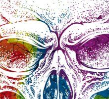 Rainbow Skull Wearing Headphones T Shirt Sticker