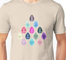 Watercolor Forest Pattern Unisex T-Shirt