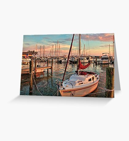 Afternoon At The Marina    Greeting Card