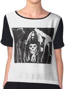 Cliff Burton T Shirt Chiffon Top