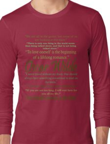 Oscar Wilde Quotes Long Sleeve T-Shirt
