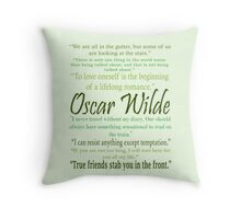 Oscar Wilde Quotes Throw Pillow