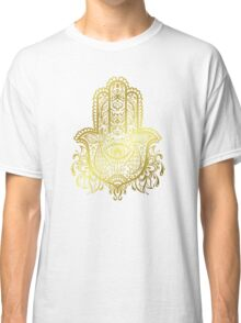 Royal Golden Hamsa Hand Classic T-Shirt