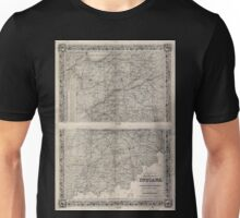 0112 Railroad Maps Colton's map of the state of Indiana compiled from the United States surveys other authentic sources exhibiting sections fractional sections railroads Unisex T-Shirt