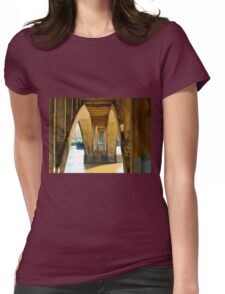Reflected Light on the Broadway Bridge Womens Fitted T-Shirt