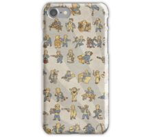 Vault Boy Fallout Perks Poster iPhone Case/Skin