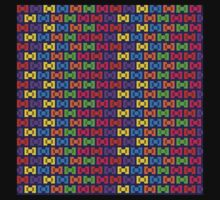 Pixel Sweet Candy Wrapper Bows Kids Tee