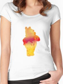 Bear Inspired Silhouette Women's Fitted Scoop T-Shirt