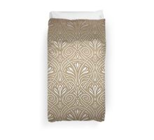 Gold art nouveau pattern,beautiful,elegant,vintage,floral,pattern,art nouveau Duvet Cover