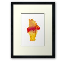 Bear Inspired Silhouette Framed Print