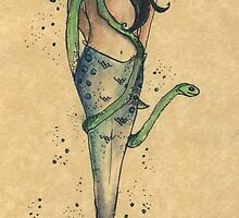 Surfacing serpent Inkmaid by inkmaid