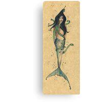 Surfacing serpent Inkmaid Canvas Print