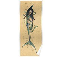 Surfacing serpent Inkmaid Poster