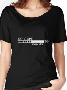 Costume 50% Loading Funny Happy Halloween Shirt Women's Relaxed Fit T-Shirt