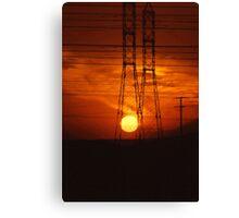 Powered Sunset Canvas Print