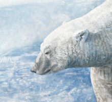 "Polar Bear ""Arctic Sovereign"" Acrylic Painting Sticker"