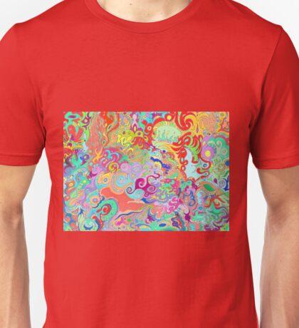 Compass Multi-colour Bold Organic Living Art Design Unisex T-Shirt