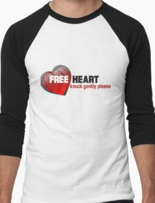 Glossy Heart with a phrase written on it Men's Baseball ¾ T-Shirt