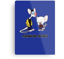 Pinkman and the brain - Breaking Bad/ Pinky and the brain Metal Print