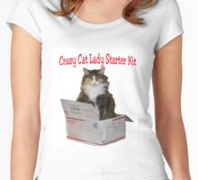 Crazy Cat Lady Starter Kit Women's Fitted Scoop T-Shirt