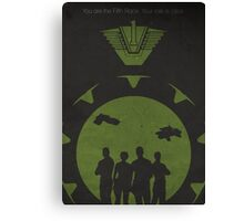 The Fifth Race (Stargate SG1 - Negative Space Print) Canvas Print