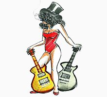 Two Guitars Womens Fitted T-Shirt