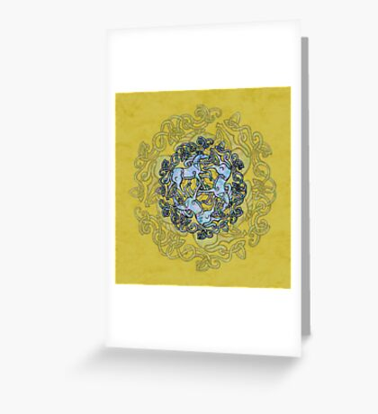 Tri Capall Triskelle Greeting Card