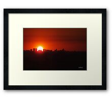 Cartagena Port at Sunset Framed Print