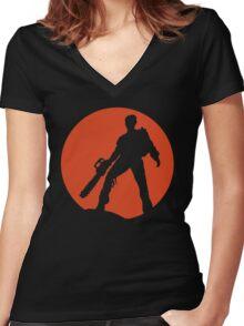 Ash vs The Evil Dead Women's Fitted V-Neck T-Shirt