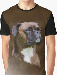 Boxer Dog Oil Painting Art Portrait Graphic T-Shirt