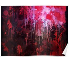 Abstract Forest At Night Poster