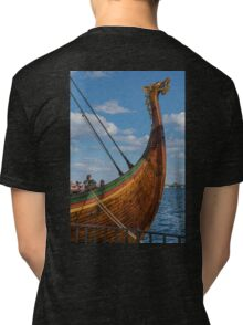 The Beautifully Carved Prow of the Draken Harald Harfragre Tri-blend T-Shirt