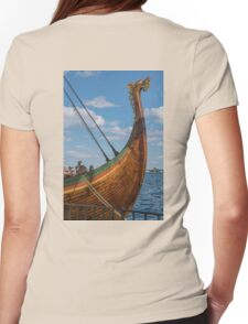 The Beautifully Carved Prow of the Draken Harald Harfragre Womens Fitted T-Shirt