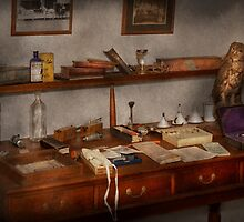 Doctor - Vet - The desk of a Veterinarian by Mike  Savad