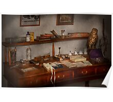 Doctor - Vet - The desk of a Veterinarian Poster