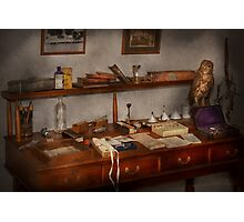 Doctor - Vet - The desk of a Veterinarian Photographic Print