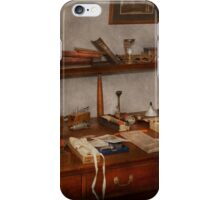 Doctor - Vet - The desk of a Veterinarian iPhone Case/Skin