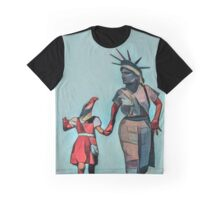 The Departure Of Liberty And Justice Graphic T-Shirt
