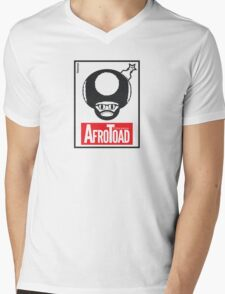 AfroToad RED (on white) Mens V-Neck T-Shirt