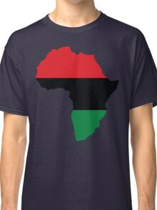 Red, Black & Green Africa Flag Classic T-Shirt