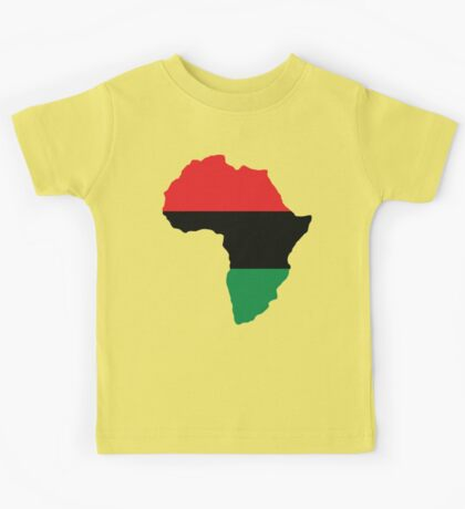 Red, Black & Green Africa Flag Kids Tee
