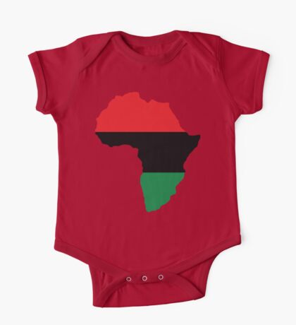 Red, Black & Green Africa Flag One Piece - Short Sleeve