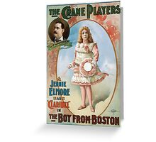 Performing Arts Posters The Crane Players Jennie Elmore as Claribel in The boy from Boston 1043 Greeting Card