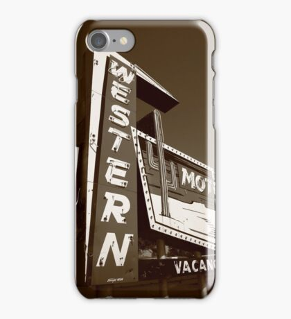 Route 66 - Western Motel iPhone Case/Skin