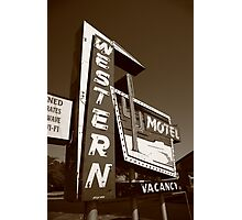 Route 66 - Western Motel Photographic Print